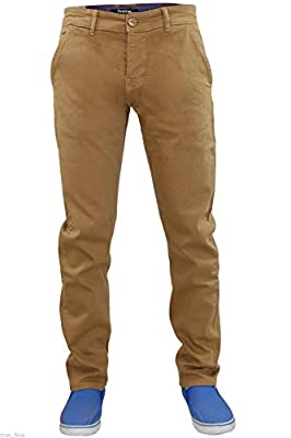 New Mens Firetrap Slim Fit Chinos Stretch Cotton Twill Trousers Denim Pants