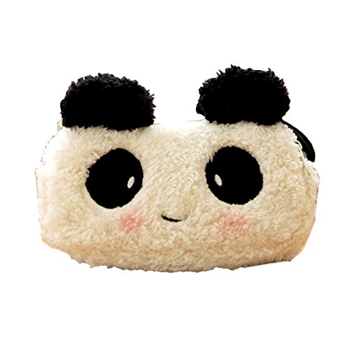 Lovely Plush Panda cosmétiques Pen Pencil Bag Case (18 * 9 * 5 CM, blanc / noir)