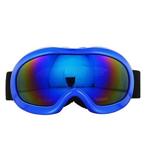 JohnJohnsen Verschiedene Art Ski Brille Anti Nebel und Doppel-Spiegel-Gläser für Kinder (blau)