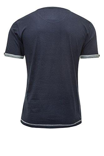 Smith & Jones Herren T-Shirt Print-Shirt Top Shortsleeve Navy