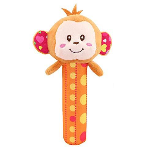 Baby Rassel Spielzeug Plüschtier Greiflinge Babybett Kinderwagen Auto-Sitz Spielzeug mit BB-Gerät und Glocke Neugeborenes Aktivität Entwicklungs-Spielzeug, Affe - Baby-affe-autositz Kinderwagen Und