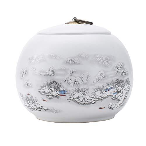 Dbtxwd Eramic Cremation Urne Für menschliche Asche oder Haustier Asche, Bestattung Urnen Passt eine kleine Menge von verbrannten Asche von Erwachsenen & Haustieren,A -