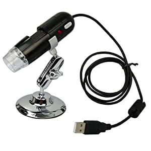 BrainyDeal Black USB Digital Microscope 2 Mega Pixel Video Camera Microscope 20-200X