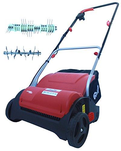 Grizzly Elektro-Vertikutierer EV 1201-31 ZV Elektrischer Rasenlüfter Moosentferner