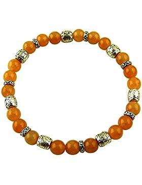Edelstein Design Armband - Aventurin orange - Heilsteinarmband, Powerarmband, Energiearmband, Yoga Armband, Stretcharmband