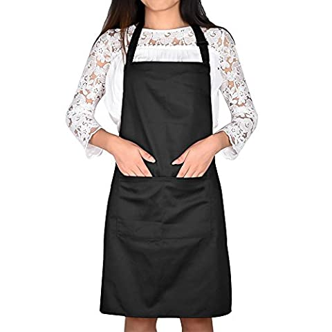 Jinberry Classic Unisex Adjustable Apron with Two Pockects Chef Apron for Restaurant BBQ or Kitchen Thick Fabric -