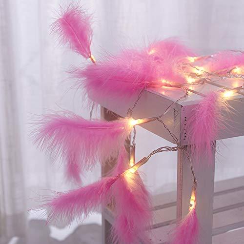 LED Lichterkette, 1,2 Mt 10 LEDs Feder String Licht Nachtlicht für Weihnachten Festivals Hochzeiten Dekoration rosa