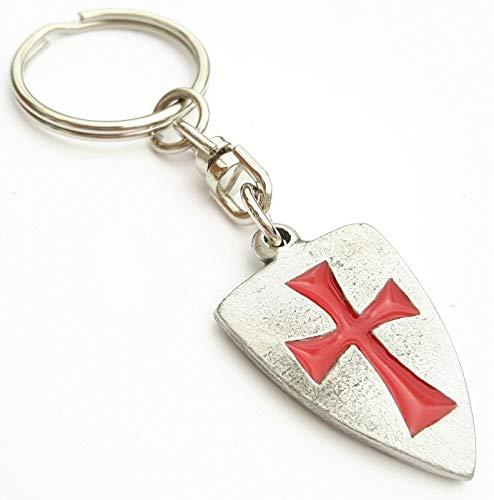 Artisan Pewter Llavero Peltre Escudo Caballeros Templarios