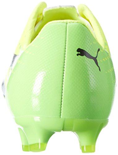 Puma Unisex-Kinder Evospeed 17 Sl S Fg Jr Fußballschuhe Gelb (safety yellow-puma black-green gecko 01)