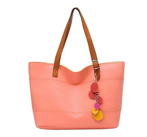 Frauen Lässig Quaste Schulterbeutel Handtasche Pink