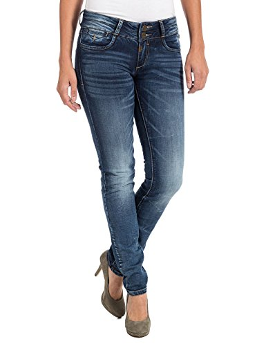 Timezone Damen EnyaTZ 3672 Workman wash Slim Jeans, Blau, W26/L32 (Herstellergröße: 26/32)