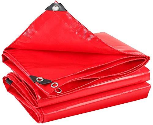 Teloni di Tende CHP A Prova di Polvere Anti-UV Piscina Copertura del Bordo di Rinforzo e Occhielli in casa Waterslide Campeggio Esterno Shed, 4 Colori, 13 Grandezze (Color : Red, Size : 4x6m)