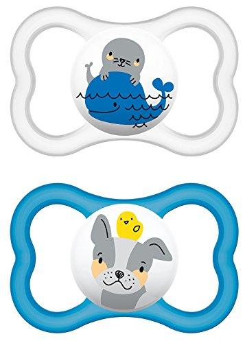 """MAM 226311 - Ciuccio """"Air"""" in silicone per bambini dai 16 mesi in su, confezione doppia, colori assortiti"""