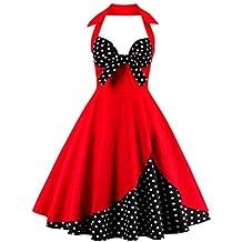 Las Mujeres Vestido De Estampado Floral Vintage Retro Años 50 Picnic Tea Party Dress