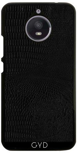 Hülle für Motorola Moto E4 Plus - Schwarz Schlangenhaut-Effekt by wamdesign (Python-geprägte Leder)