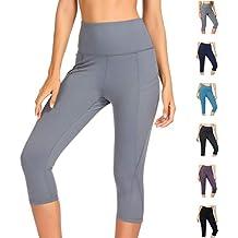 WateLves Legging pour Femme Pantalon de Yoga Gym 3 4 Taille Haute Capri  Course à f8ed8f3cc30