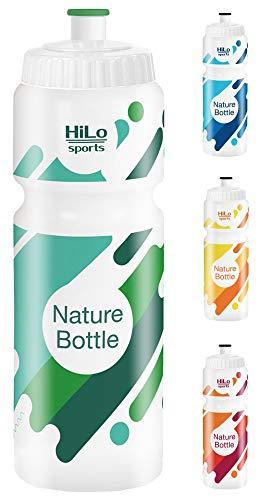 HiLo sports Fahrrad Trinkflasche - Rohstoff Zuckerrohr - BPA frei - 750 ml