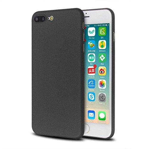 Für iPhone 7 plus Hülle,Saingace Ultra dünne dünne stoßfeste matte harte Abdeckung für iPhone 7 Plus 5,5 Zoll Case Cover (Schwarz)