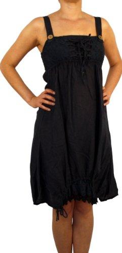 07663 Mesdames lin robe, 100% lin, marron, bleu, rose, blanc, noir, vert, rouge, beige, taille. M, L, XL, 2XL, 3XL. bleu foncé