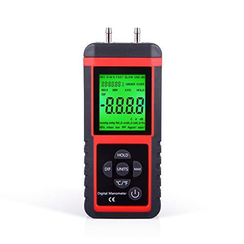 Ehdis - Manómetro Digital de presión de Aire con medidor de Gas con 32 bits MCU 24 bits ADC de Alta...