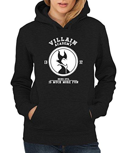 - Villain Academy - Girls Kapuzenpullover Schwarz, Größe -