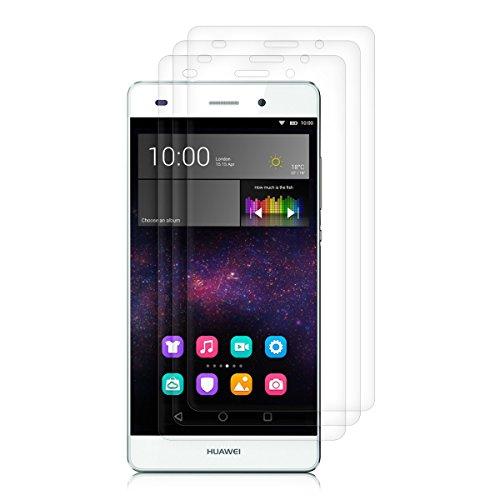 kwmobile 3X Folie für Huawei P8 Lite (2015) - klare Bildschirmschutzfolie Bildschirmschutz Crystal Clear kristallklar Bildschirmfolie Schutzfolie