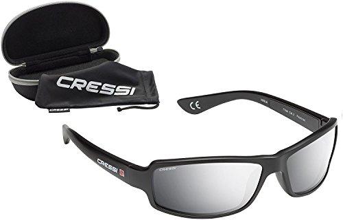 2392138b48 Cressi XDB100012 Gafas de Sol, Unisex Adulto, Negro/Lentes Espejadas Plata,  Ultra