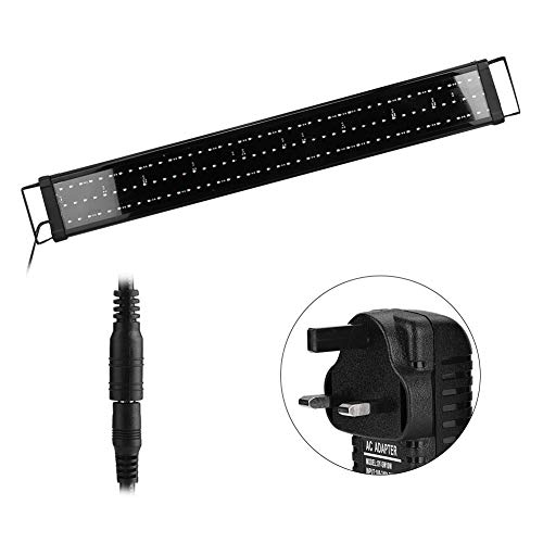koulate Aquarium Lampe LED Aquarium Lampe, 220V Highlight LED Licht Lampe Verstellbares Aquarium Licht mit ausziehbaren Halterungen für Aquarien, Zisternen(1#) -