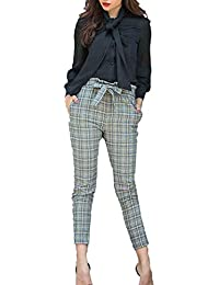 fd74889a71 Pantalones Lápiz Mujer Elegante Primavera Pantalones Fiesta Cuadros Largos  A Ropa Festiva De Cintura Alta Moda