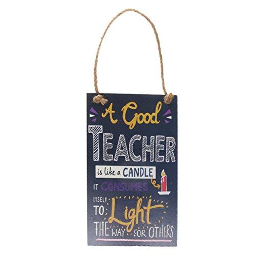 Wand Hängende Kerzen (Süßen Holz Hängenden Pest Lehrer Ist Wie Eine Kerze Hängende Wand Zeichen Dekor)