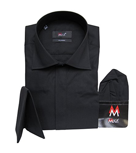 Muga french-cuff Camicia Black
