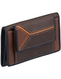 Petit portemonnaie LOUANA , cuir véritable, marron 9x6cm