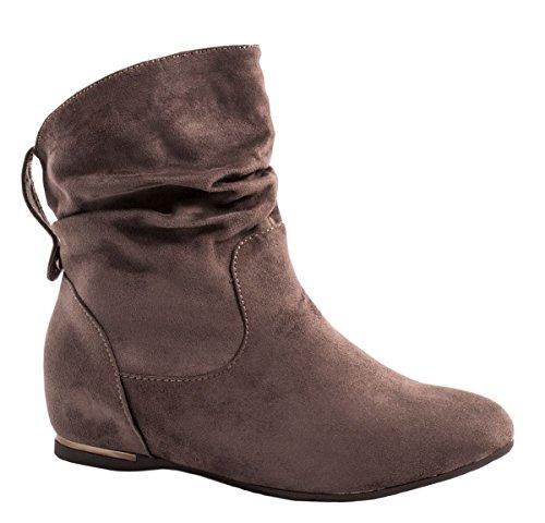 Elara Botines para Mujer Boots Cuña Chunkyrayan AB02-25 Grey-36