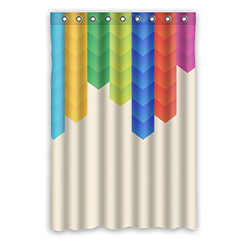 90cm X183cm (91,4x 182,9cm) Badezimmer Dusche Vorhang, Abstrakt Farbe Custom Design Personalisiertes Design Wasserdicht Mehltau Duschvorhang