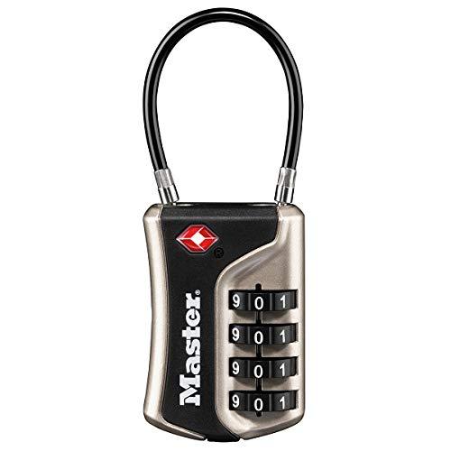 Master Lock 4697eurdnkl Candado TSA con Combinación para Maleta, Plata