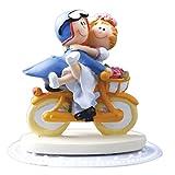 Tortenfigur Brautpaar auf Fahrrad Cake Company