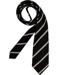 RENÉ LEZARD Herren Krawatte Accessoire Gestreift, Größe: Onesize, Farbe: Schwarz