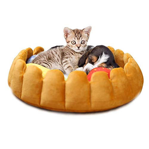 Cypressen Haustier Plüsch Katzen Hundebetten Kennel Katzenstreu Winter warme Innovative Haustier Bett Frucht Ei Torte