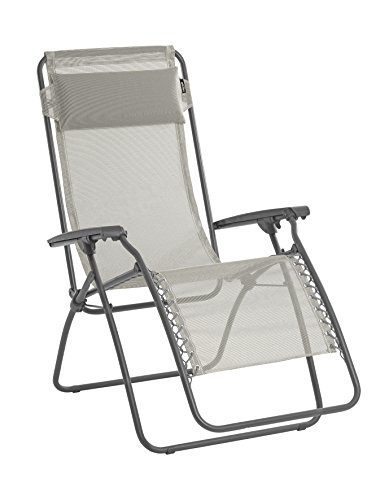 Lafuma sedia a sdraio, pieghevole, rt 2, texplast, colore: beige, lfm4019-8548