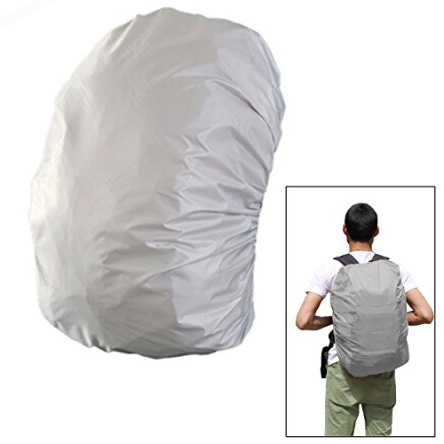 45-50L de capacidad durable de excursión que acampa del morral Mochila Escolar impermeable a prueba de lluvia Plata Bag Funda