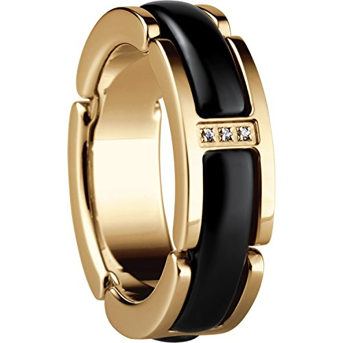 Bering Damen-Ring Link Vergoldet Zirkonia schwarz Gr. 60 (19.1) - 502-26-95