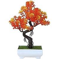 Bonsai Artificial Falso planta en maceta plantas accesorio de escritorio verde Bonsai pequeña planta verde artificial