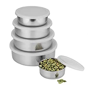 Classic Essentials Stainless Steel Cereal Bowl Set, 5-Pieces