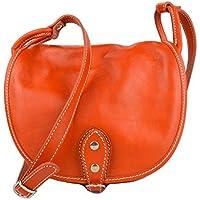 Bolso de mujer de piel bandolera de cuero bolso de espalda de cuero bolso de piel made in Italy narnaja