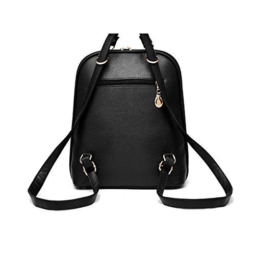 WU Zhi Donne PU moda Tracolla Black