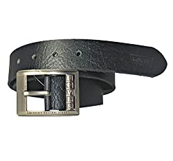 Levis Genuine Leather Black Colour Belt For Men For Jeans Size 34