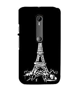 Eiffel Tower 3D Hard Polycarbonate Designer Back Case Cover for Moto G Turbo Edition :: Moto G Turbo (Virat Kohli Edition)