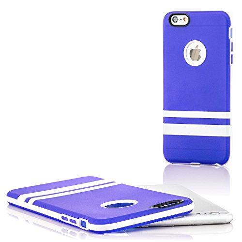 """Saxonia. Saxonia Coque de protection arrière en silicone/TPU pour Apple iPhone 6 Plus 5,5"""" Finitions de grande qualité orange bleu"""