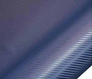 Feuille de vinyle de fibre de carbone 3D Blue Twill Wrap Film Roll - 24''x60''