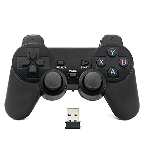 QUMOX Controlador inalámbrico 2.4GHz Gamepad Joystick Gamepad para PC